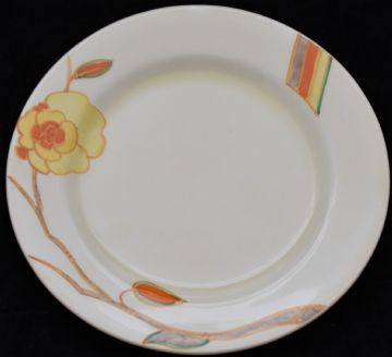 Clarice Cliff Bizarre Yellow Rose Plate